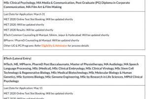 MET 2020 Schedule Changed