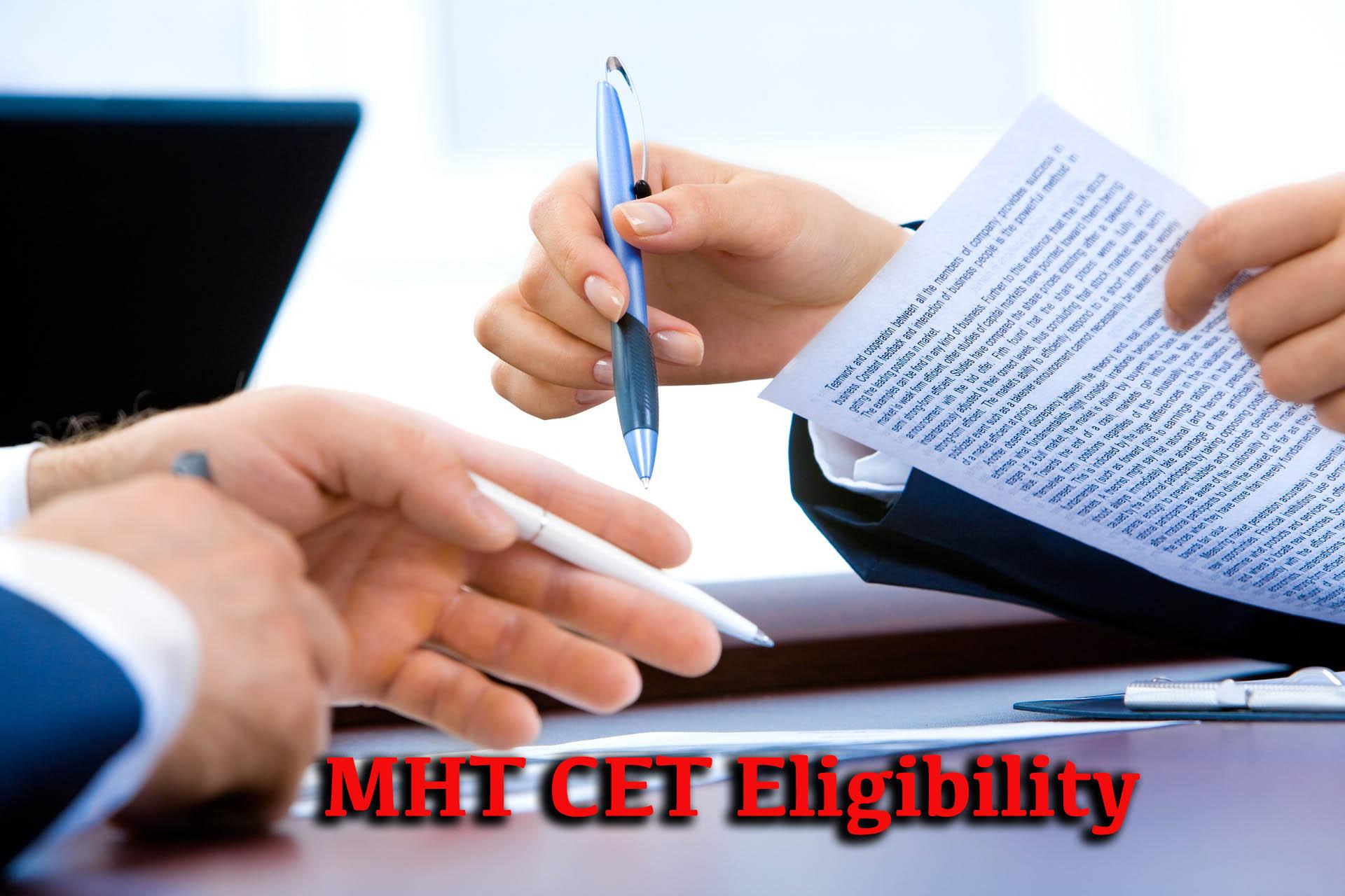 MHT CET Eligibility