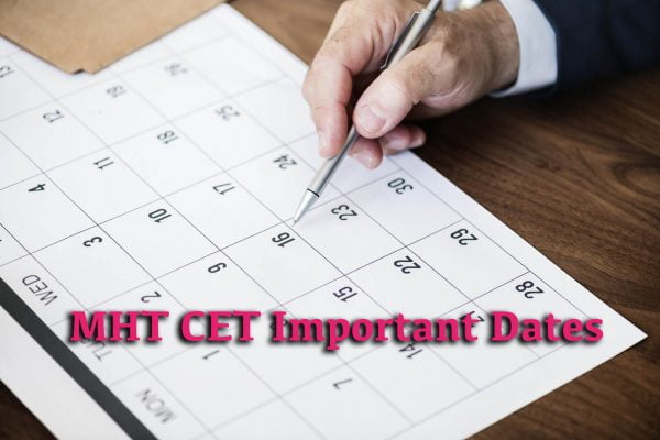 MHT CET Important Dates