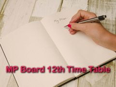 MP Board 12th Time Table 2020 : Download MPBSE 12th Class Time Table PDF