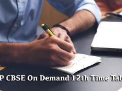 MP CBSE On Demand 12th Time Table December 2019
