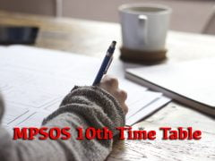MPSOS 10th Time Table 2019 December PDF Download