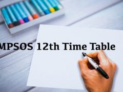 MPSOS 12th Time Table 2019 December PDF Download