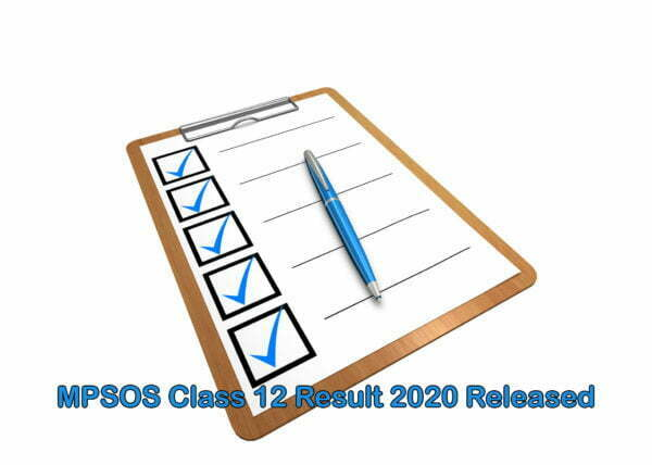 MPSOS Class 12 Result 2020 Released