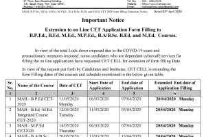 Maharashtra CET 2020 Application Last Date Extended Due to COVID-19 Lockdown
