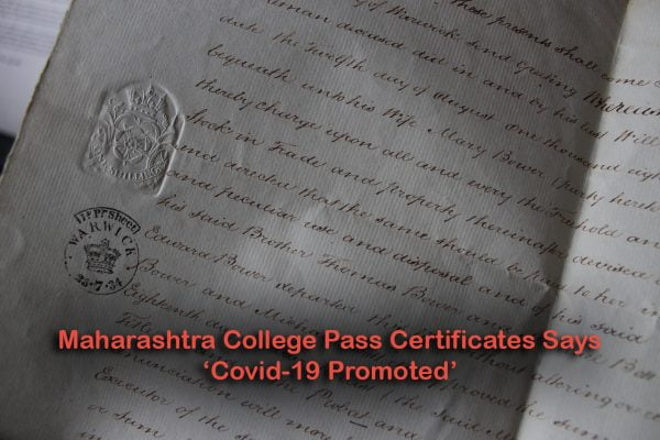 Maharashtra College Pass Certificates Says Covid-19 Promoted
