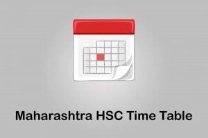 Maharashtra HSC Time Table