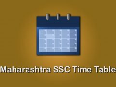 Maharashtra SSC Time Table 2020 : Download SSC Board Time Table 2020 Maharashtra