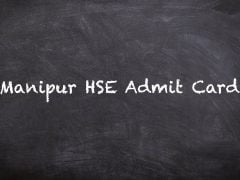 Manipur HSE Admit Card 2020 : Download COHSEM HSE Admit Card 2020