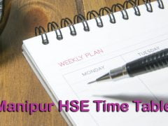 Manipur HSE Time Table 2020 : Download COHSEM Class 12 Exam Routine 2020 PDF