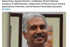 Manoj Ahuja Appointed as New CBSE Chairman
