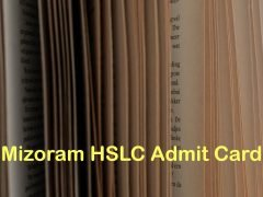 Mizoram Board HSLC Admit Card 2020 : Download MBSE HSLC Admit Card 2020