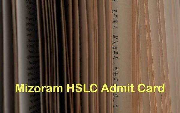 Mizoram Board HSLC Admit Card