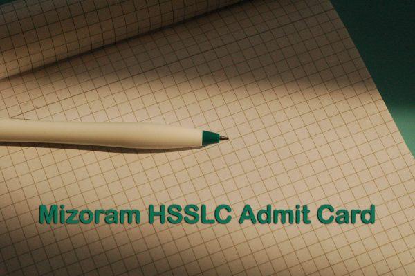 Mizoram Board HSSLC Admit Card