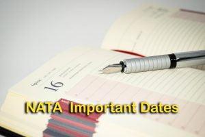 NATA Important Dates