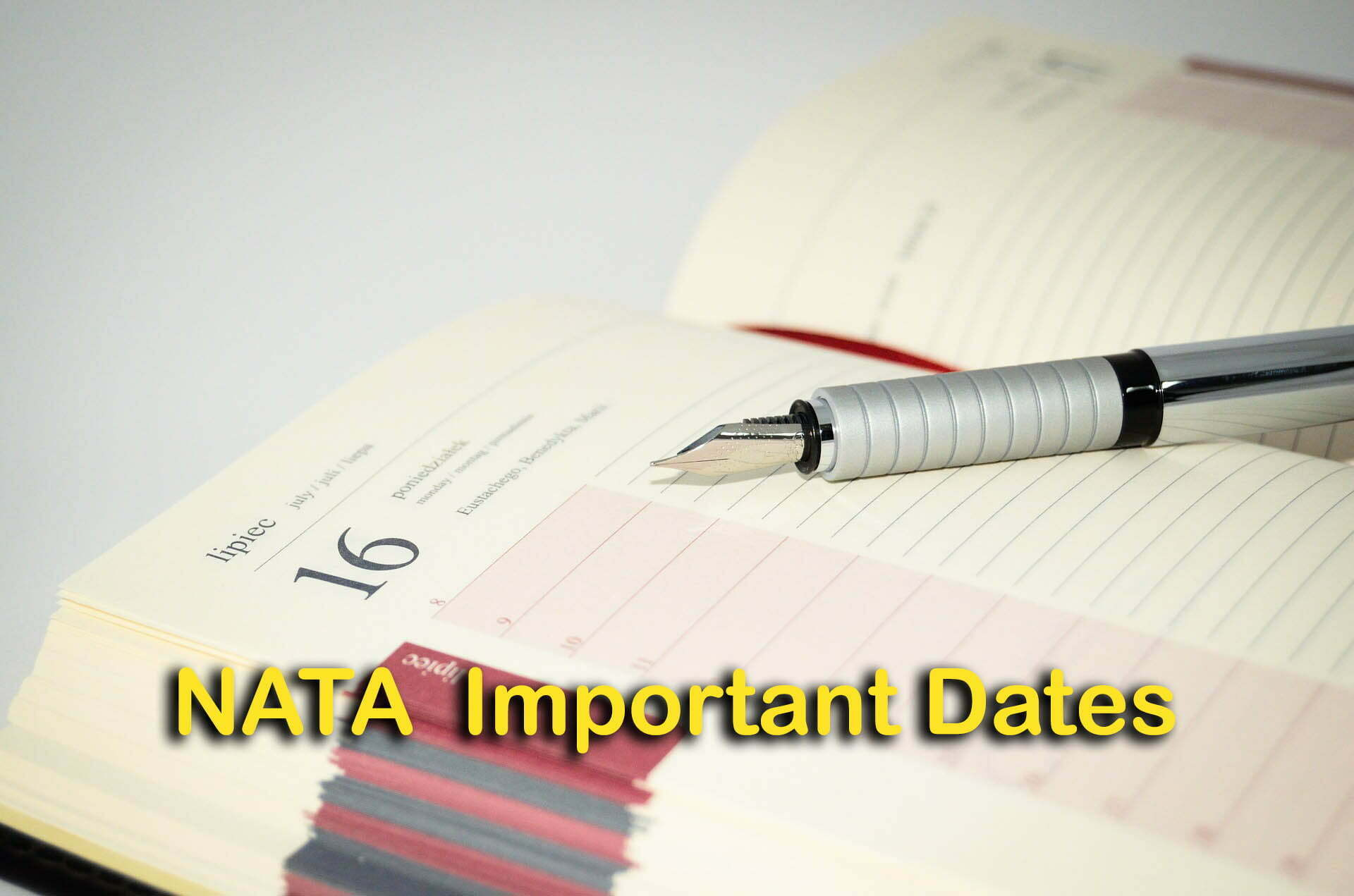 NATA Important Dates