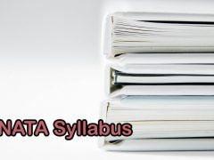 NATA Syllabus 2020 for Maths, General Aptitude, Drawing