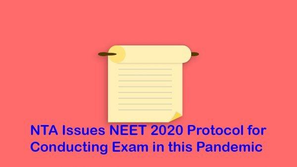 NEET 2020 Protocol