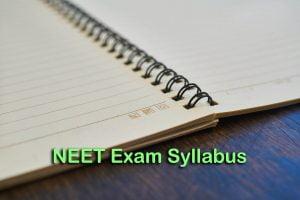 NEET Exam Syllabus