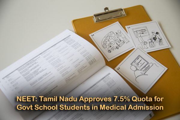 NEET: Tamil Nadu Cabinet Approves 7.5% Quota for Govt School Students in Medical Admission