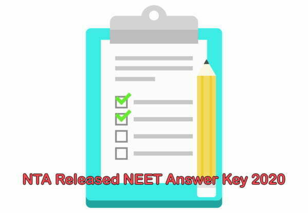 NTA Released NEET Answer Key 2020