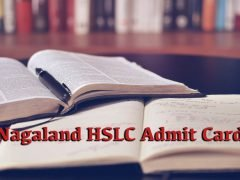 Nagaland Board HSLC Admit Card 2020 : Download NBSE HSLC Admit Card 2020