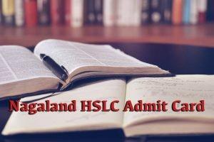 Nagaland Board HSLC Admit Card