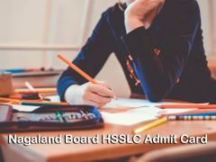 Nagaland Board HSSLC Admit Card 2020 : Download NBSE HSSLC Admit Card 2020