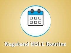 Nagaland HSSLC Routine 2020 : Download NBSE Class 12 Routine 2020 PDF