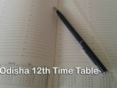 CHSE Odisha 12th Time Table 2020 : Download Odisha +2 Time Table 2020 PDF