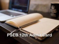 PSEB 12th Admit Card 2020 : Download Punjab Board 12th Admit Card