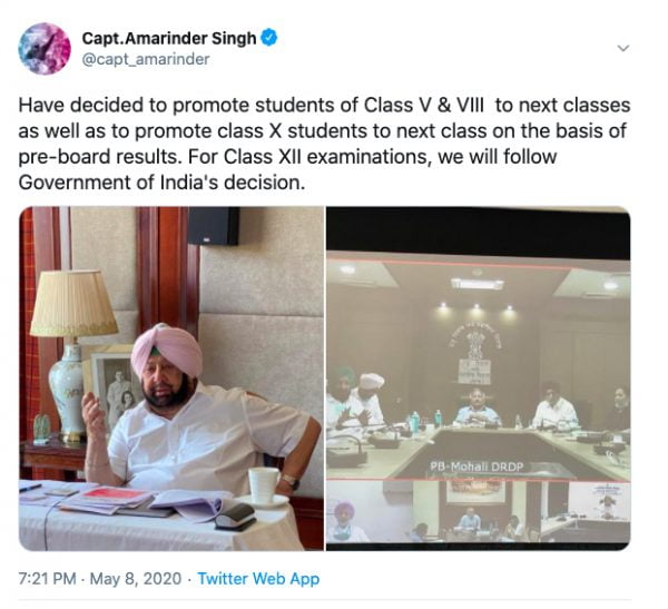Punjab Board Class 10 Students to Be Promoted Without Exam
