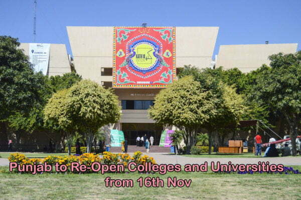 Punjab to Re-Open Colleges and Universities from 16th Nov