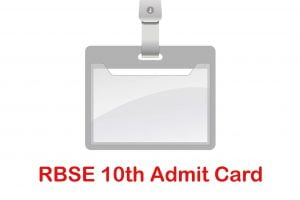 RBSE 10th Admit Card