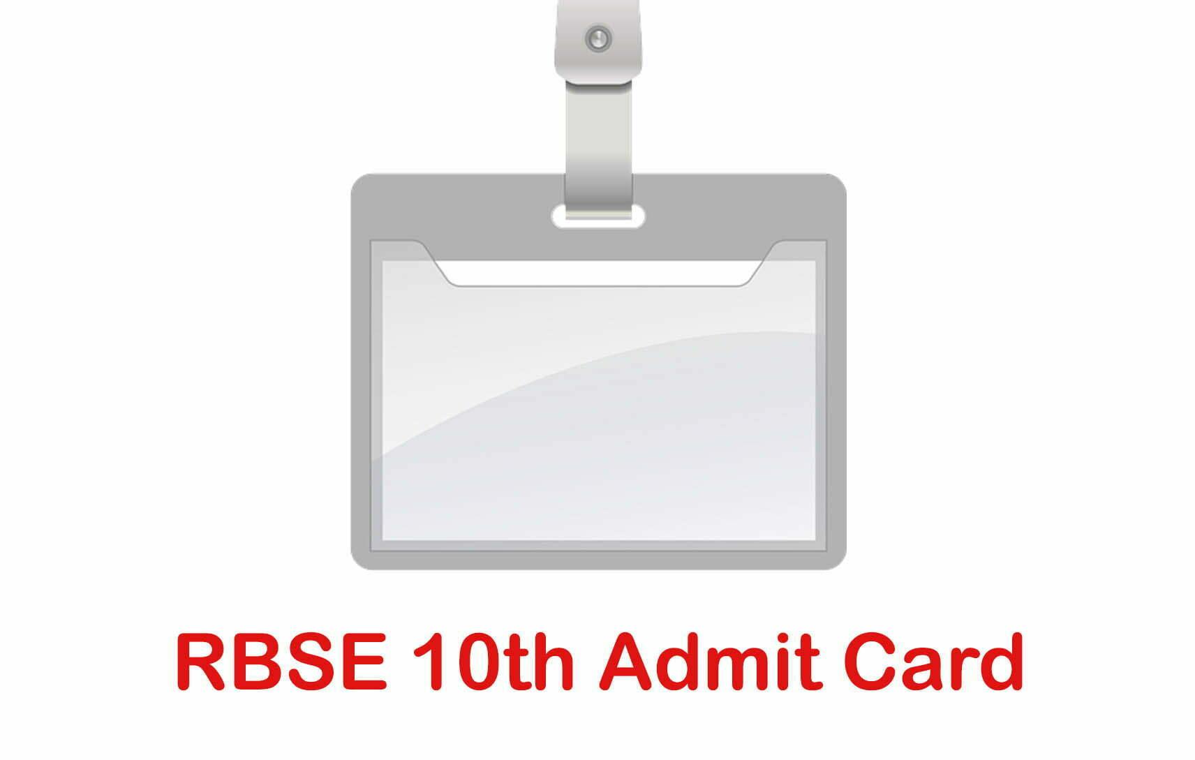 RBSE 10th Admit Card