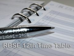 RBSE 12th Time Table 2020 : Download Rajasthan Board 12th Time Table PDF
