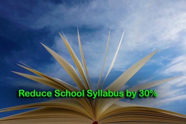 Reduce School Syllabus by 30%
