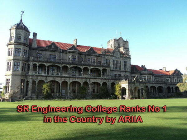 SR Engineering College Ranks No 1 in the Country by ARIIA