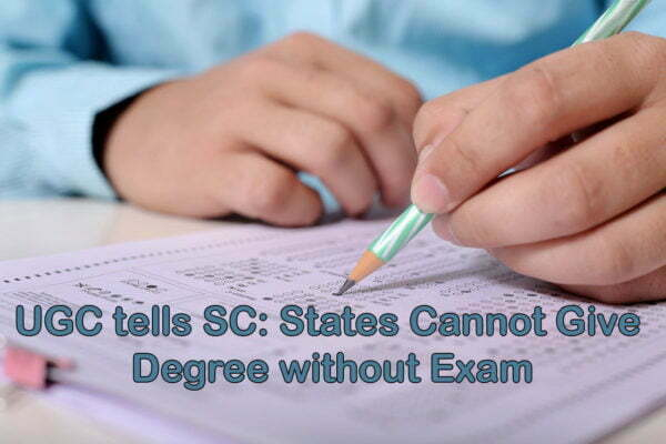 States Cannot Hand On Degree without Exam