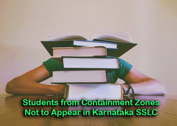 Students from Containment Zones Not to Appear in Karnataka SSLC