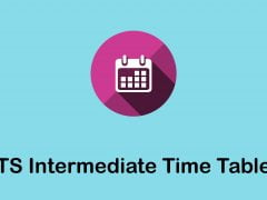 TS Intermediate Time Table 2020 : Download Telangana Inter Time Table 2020 PDF