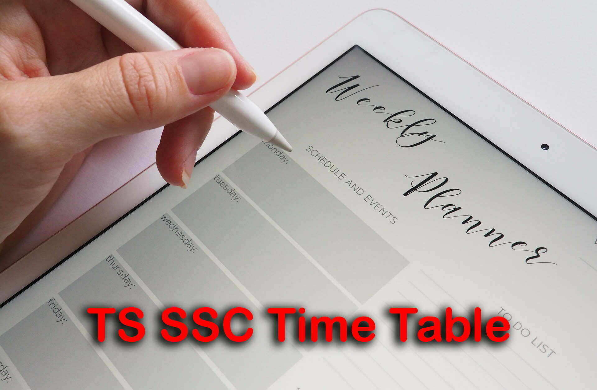 TS SSC Time Table