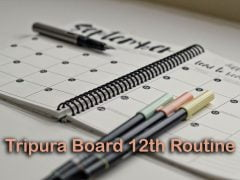 Tripura Board Class 12 Routine 2020 : Download TBSE HS Routine