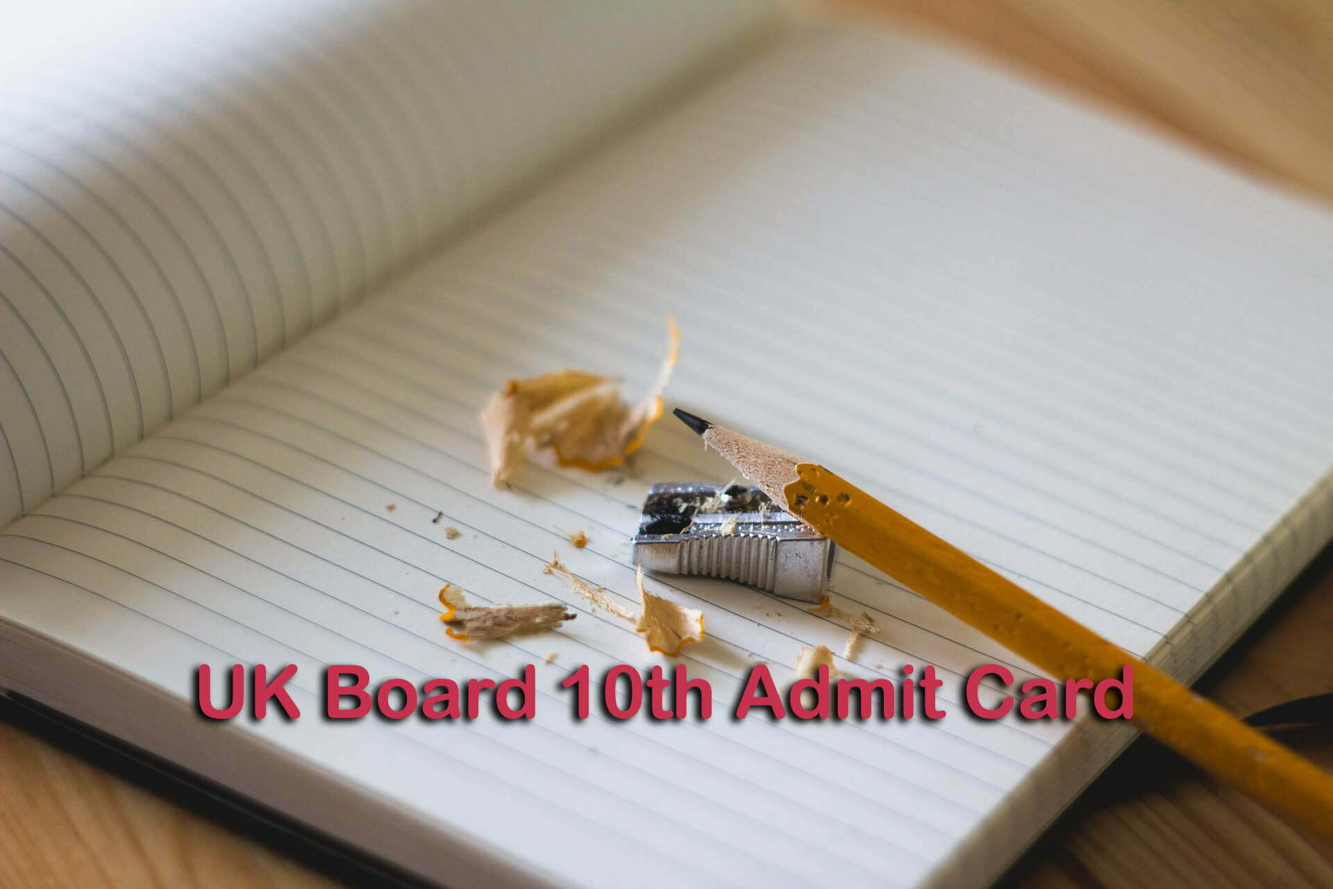 UK Board 10th Admit Card