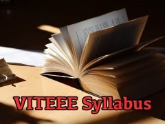 VITEEE Syllabus 2020 for Mathematics, Physics and Chemistry