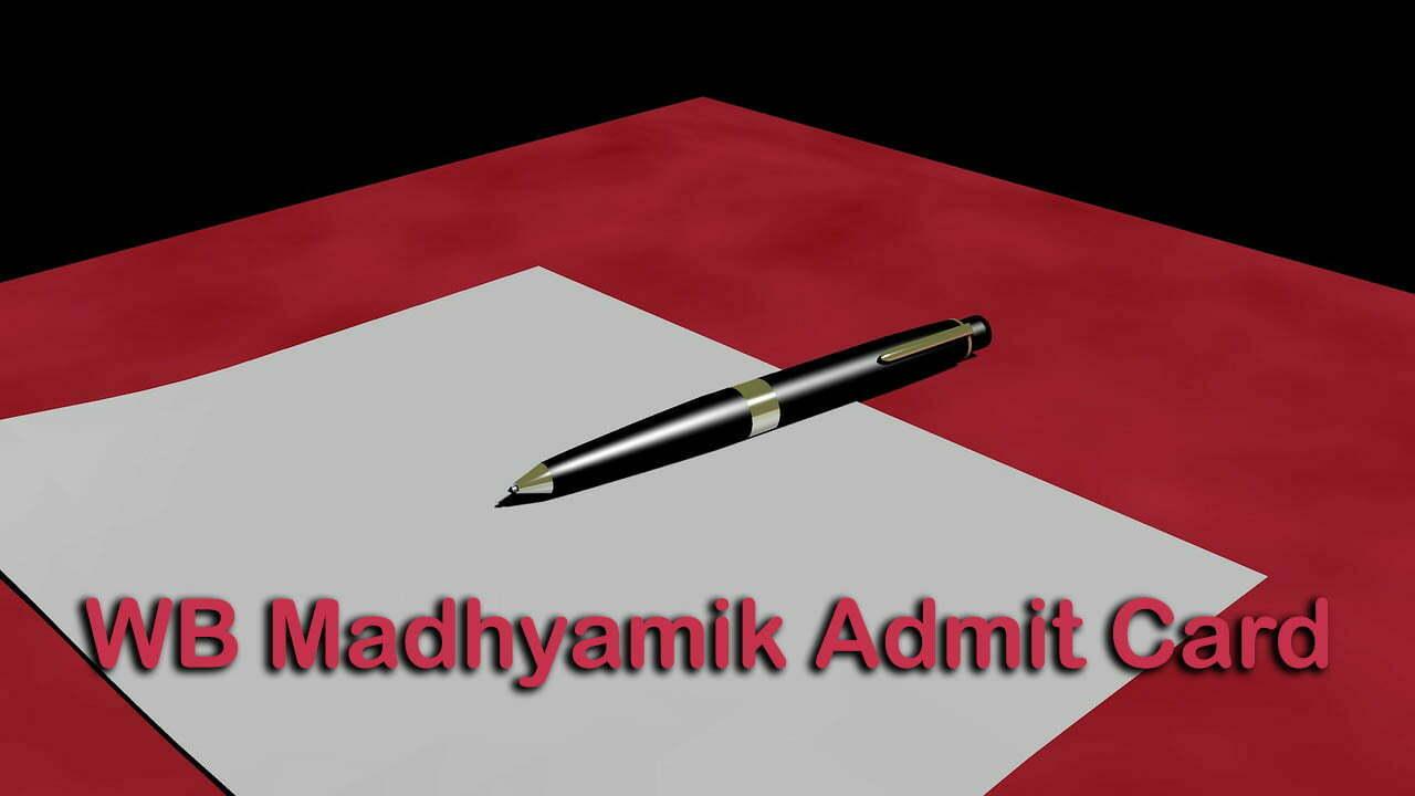WB Madhyamik Admit Card