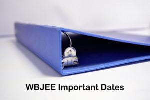 WBJEE Important Dates